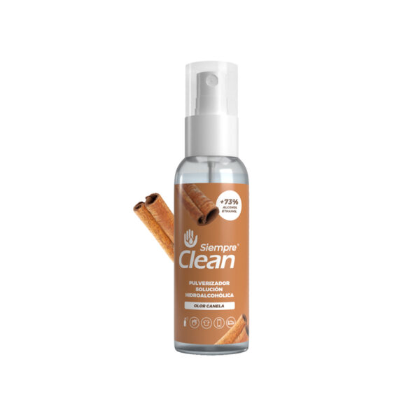 Siempre Clean Solución Hidroalcohólica Aroma Canela Pulverizador 60 ml