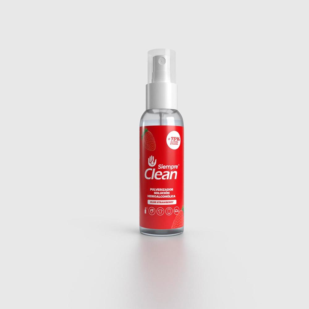 Siempre Clean Solución Hidroalcohólica Aroma Fresa Pulverizador 100 ml