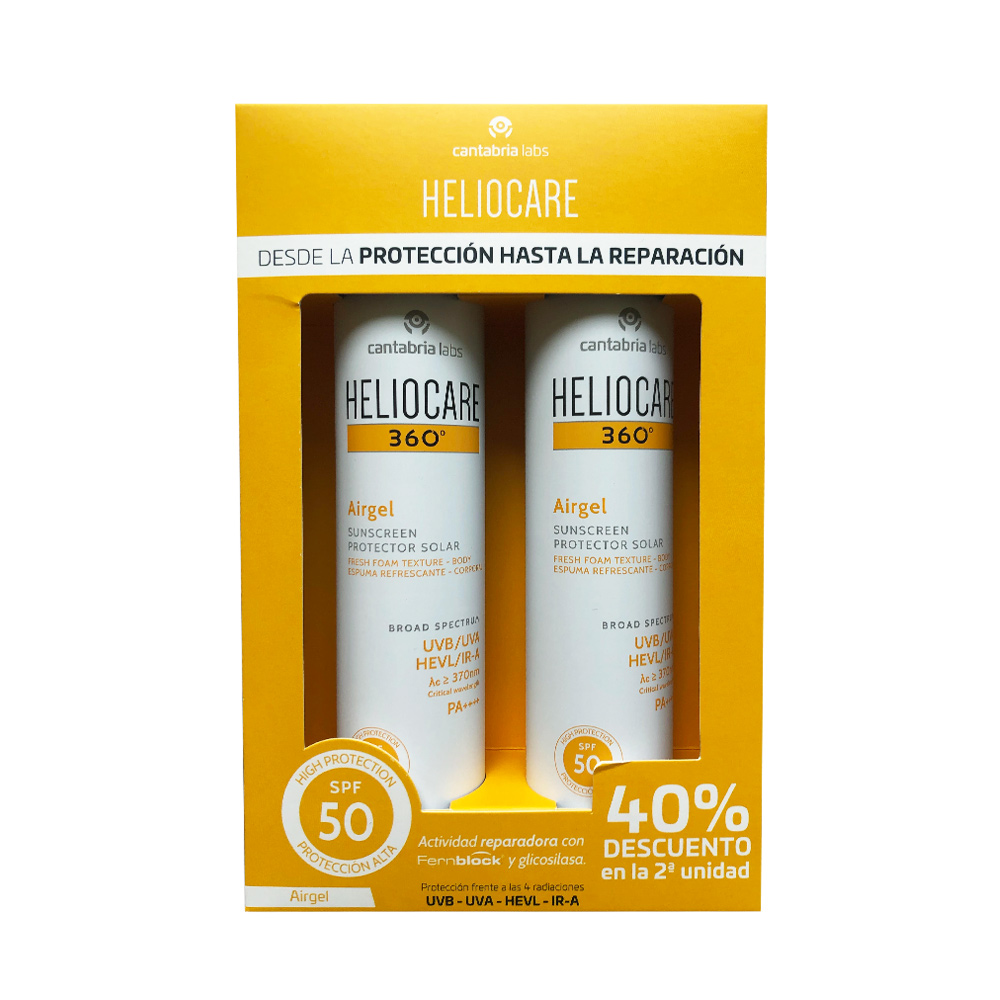 Heliocare Pack Airgel Corporal Duplo